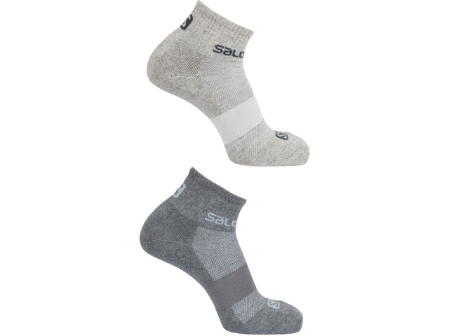 Salomon Evasion Chaussettes Pack de 2, light grey heather/medium